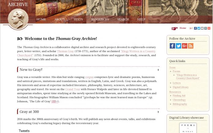 Thomas Gray Archive