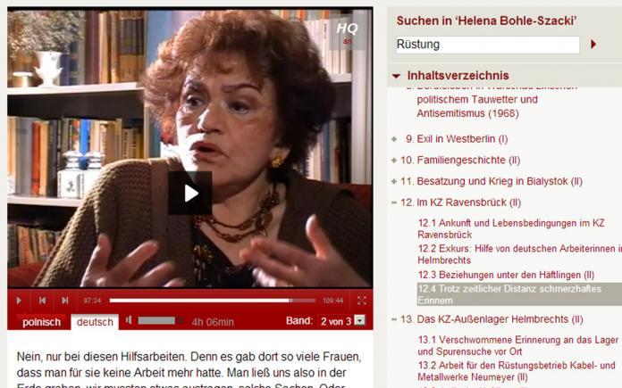 """""""Zwangsarbeit 1939-1945"""" Interview Archive"""